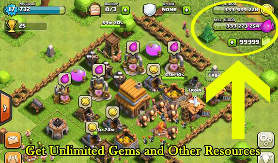 of clans hack it s the latest version for this hack works for all