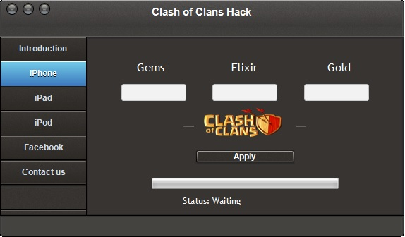 Clash Of Clans Hack Gems Generator for Android, IOS.